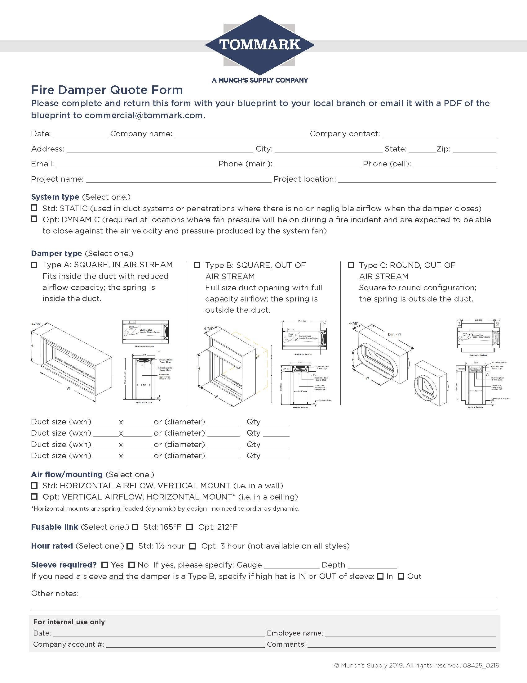 Fire Damper Form-tommark-fill-in